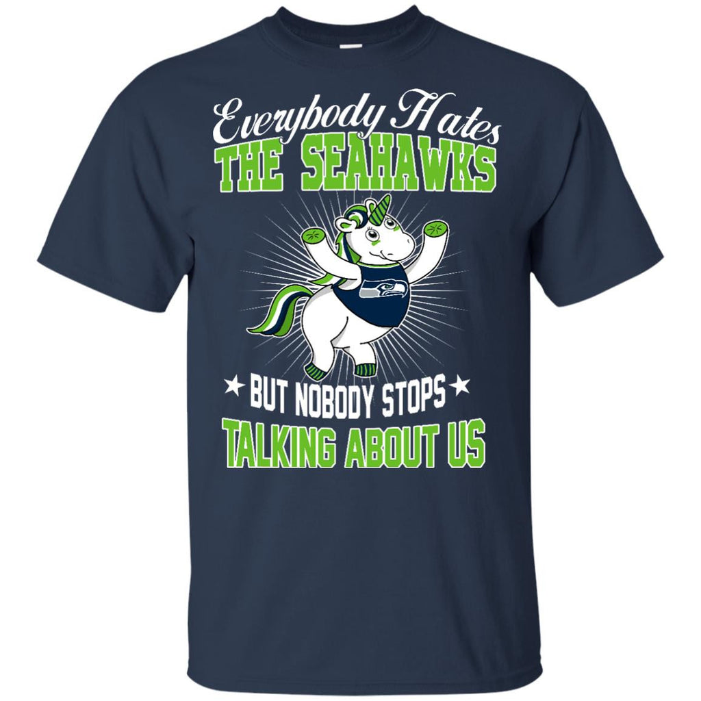 Nobody Stops Talking About Us Seattle Seahawks T Shirt - Best Funny Store