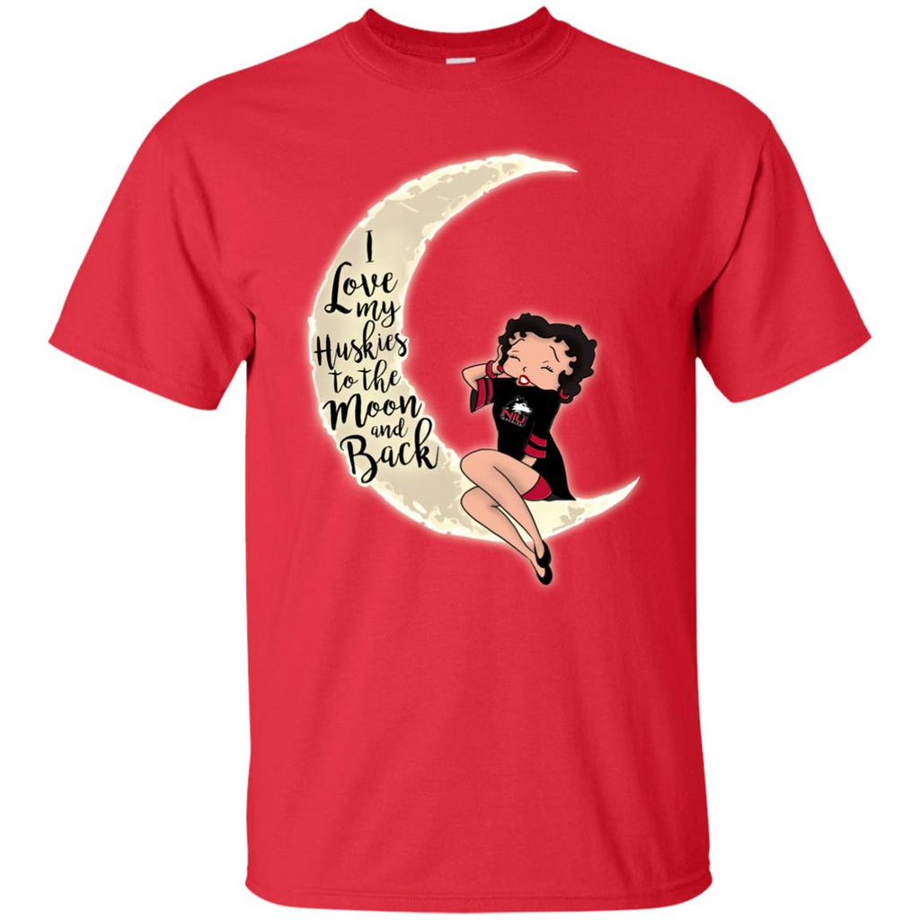 BB I Love My Northern Illinois Huskies To The Moon And Back T Shirt