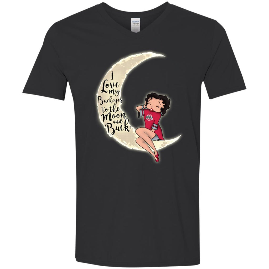 BB I Love My Ohio State Buckeyes To The Moon And Back T Shirt - Best Funny Store