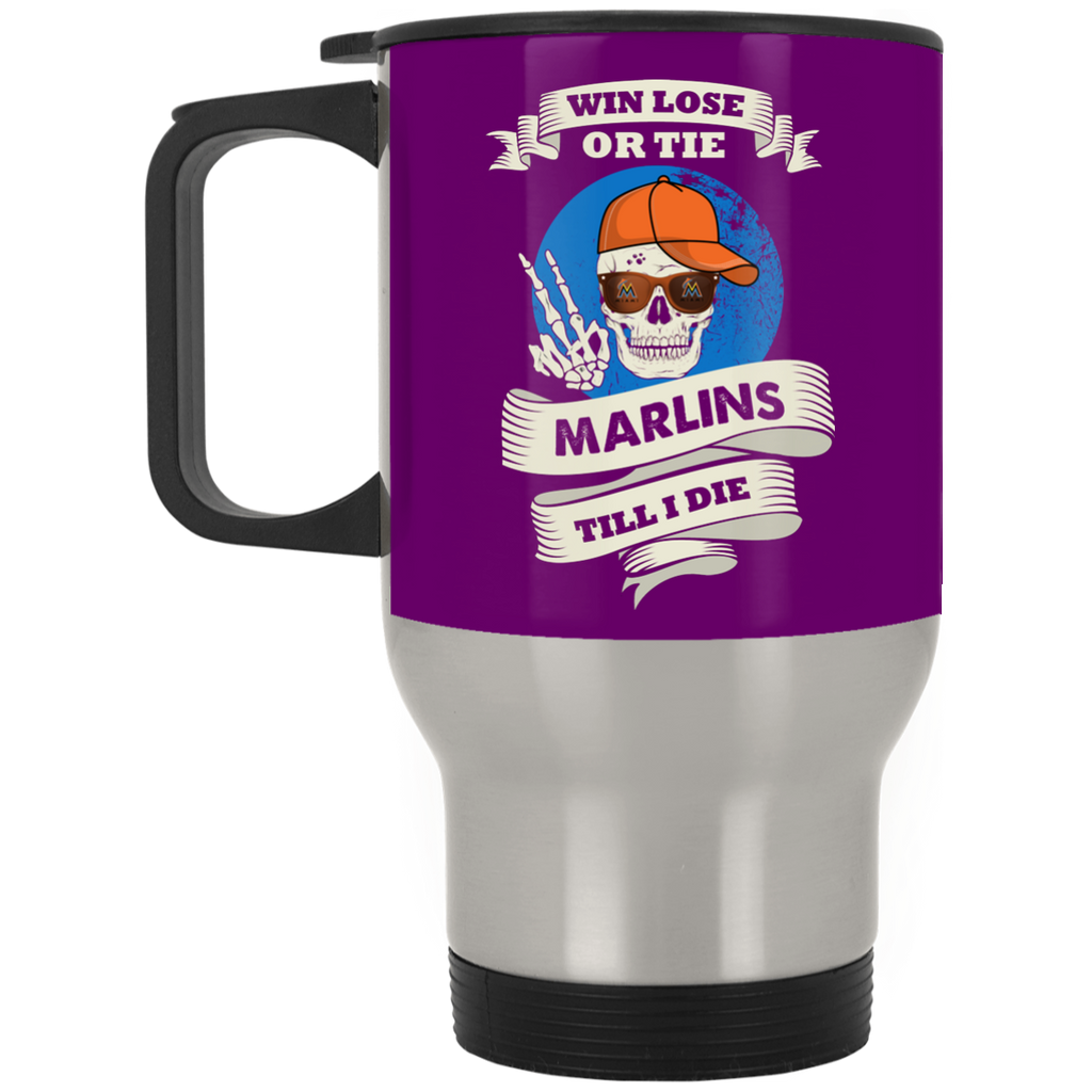 Skull Say Hi Miami Marlins Mugs