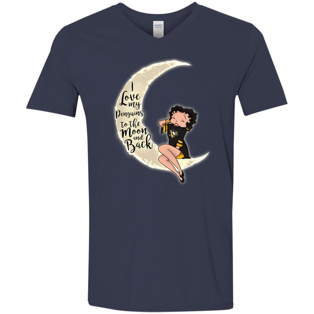BB I Love My Pittsburgh Penguins To The Moon And Back T Shirt - Best Funny Store