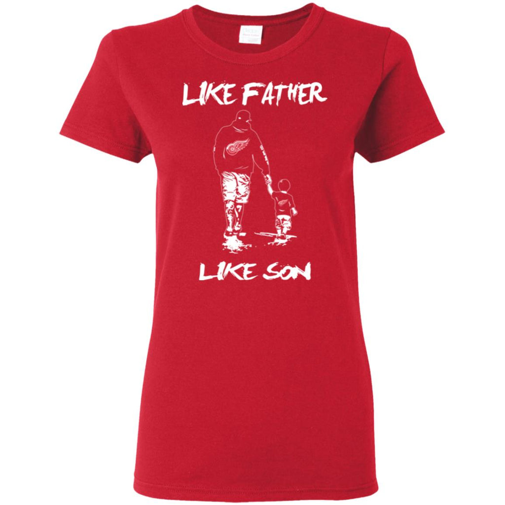 Like Father Like Son Detroit Red Wings T Shirt