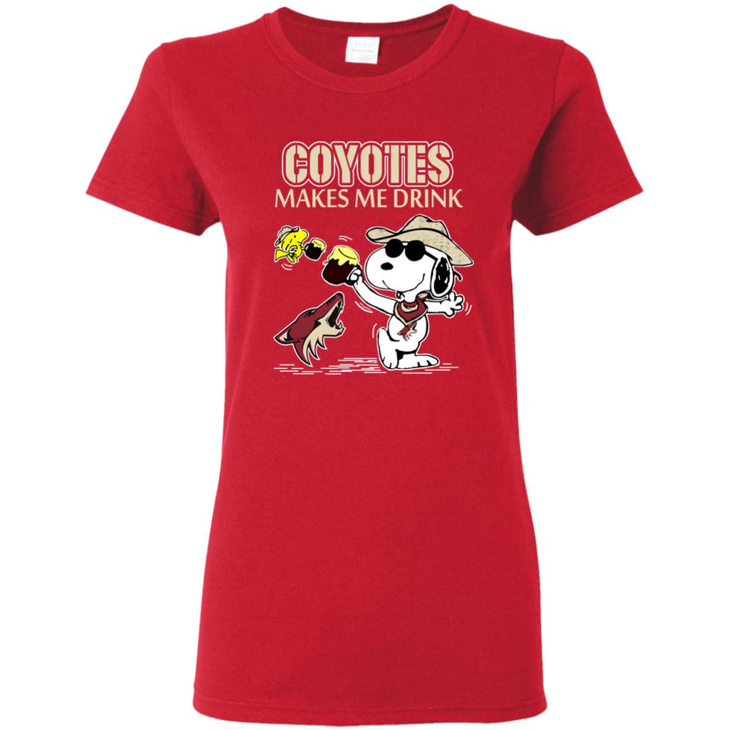 Arizona Coyotes Make Me Drinks T Shirts