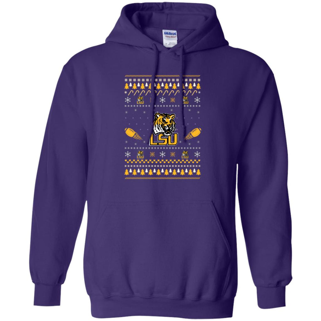 LSU Tigers Stitch Knitting Style Ugly T Shirts