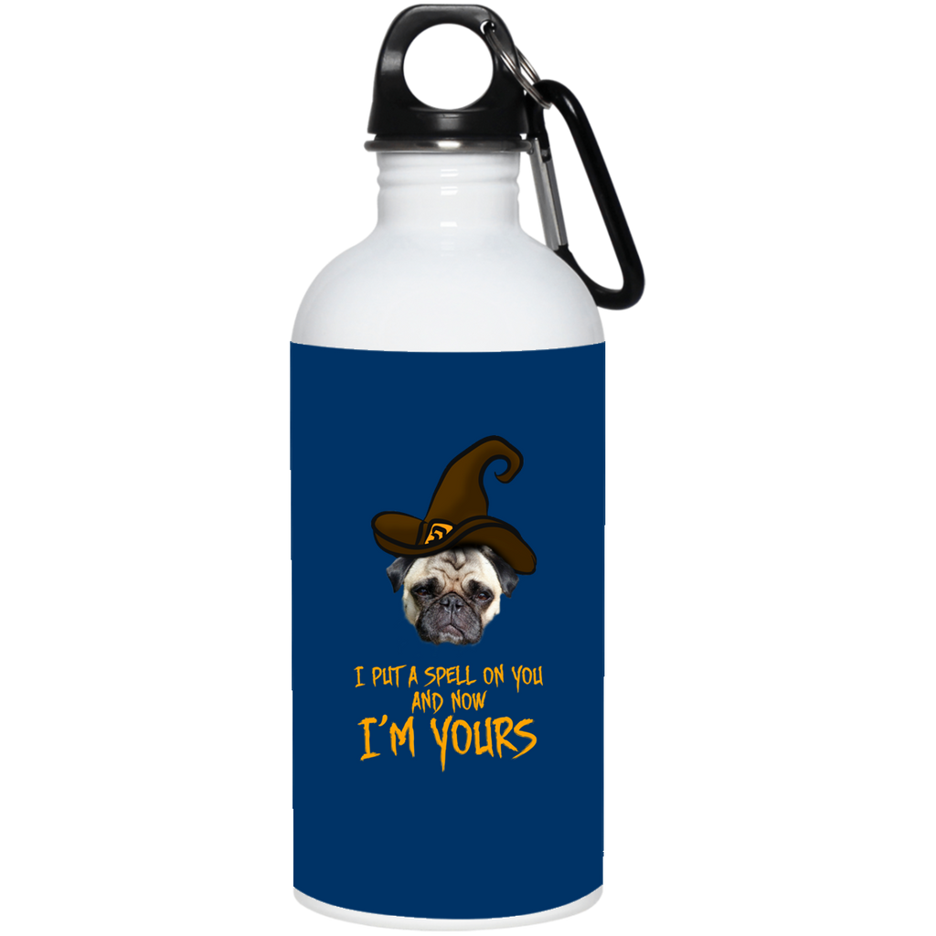I Put A Spell On You Pug Water Bottles