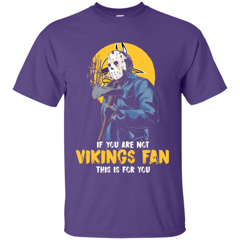 Jason With His Axe Minnesota Vikings T Shirts