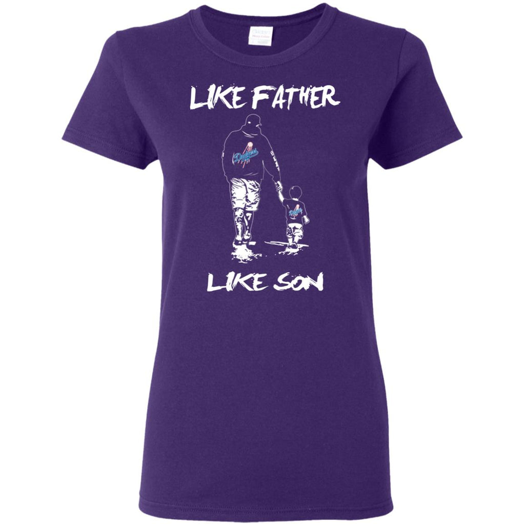 Like Father Like Son Los Angeles Dodgers T Shirt