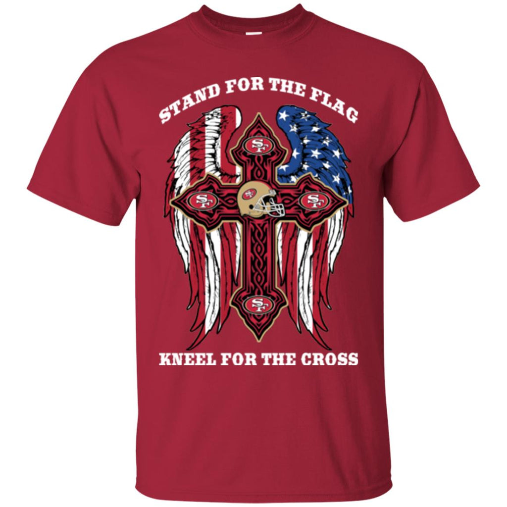 a4c432a2 Stand For The Flag Kneel For The Cross San Francisco 49ers T Shirts