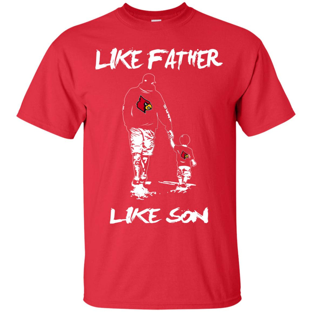 Like Father Like Son Louisville Cardinals T Shirt