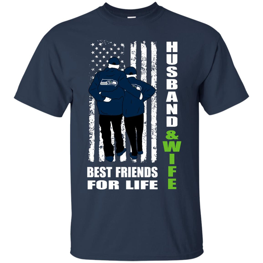 Husband And Wife Best Friends For Life Seattle Seahawks T Shirt - Best Funny Store