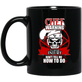 Chef Warning To Avoid Injury Mugs
