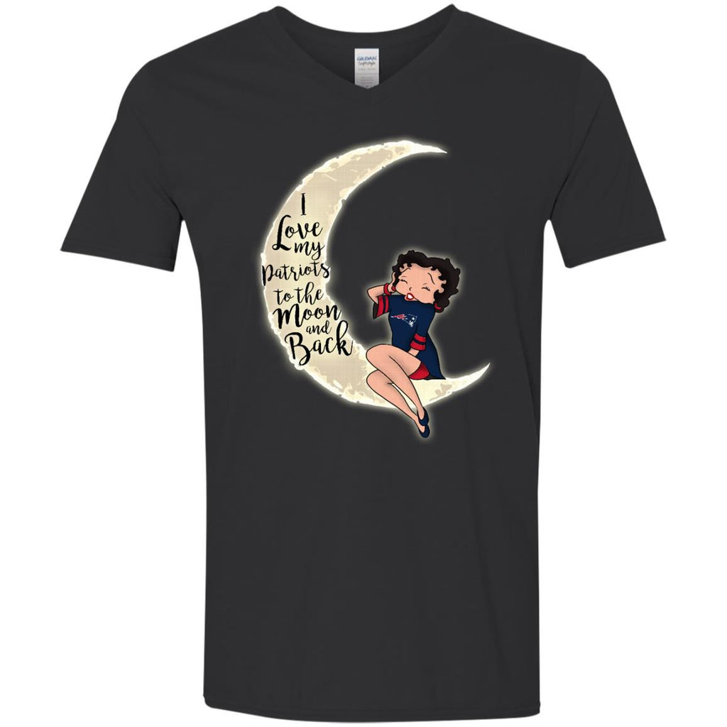BB I Love My New England Patriots To The Moon And Back T Shirt - Best Funny Store