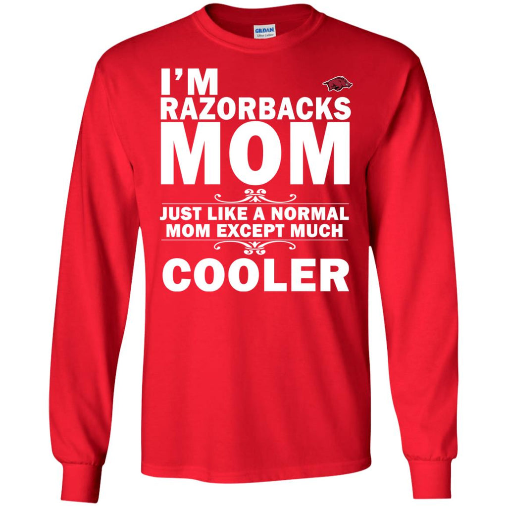 A Normal Mom Except Much Cooler Arkansas Razorbacks T Shirts