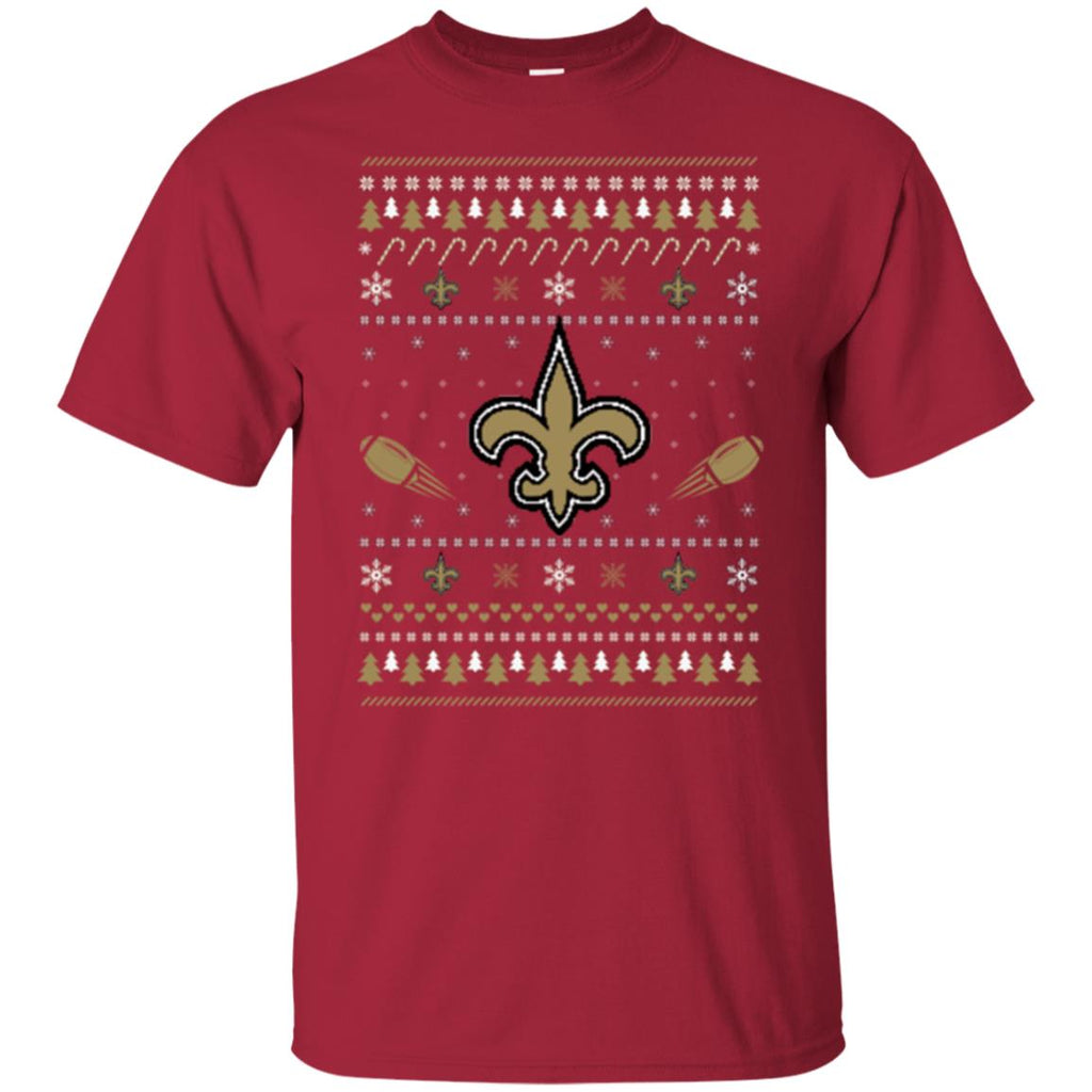 New Orleans Saints Stitch Knitting Style Ugly T Shirts
