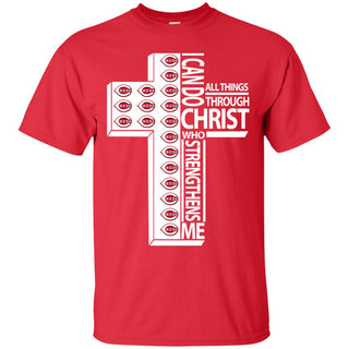 I Can Do All Things Through Christ Cincinnati Reds T Shirts