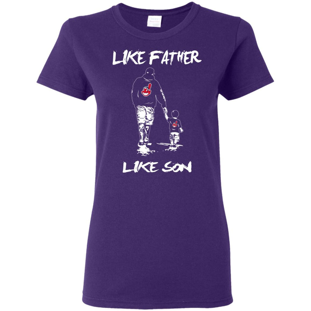 Like Father Like Son Cleveland Indians T Shirt