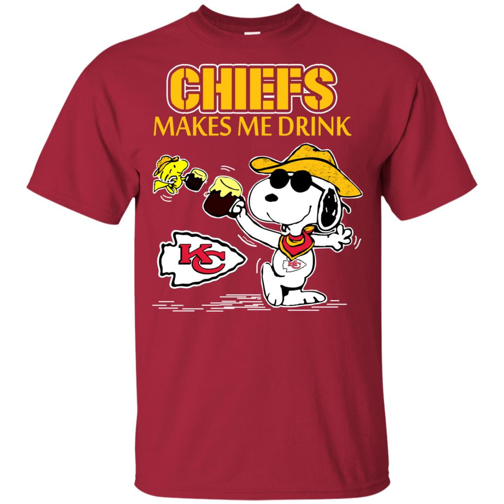 Kansas City Chiefs Make Me Drinks T Shirts