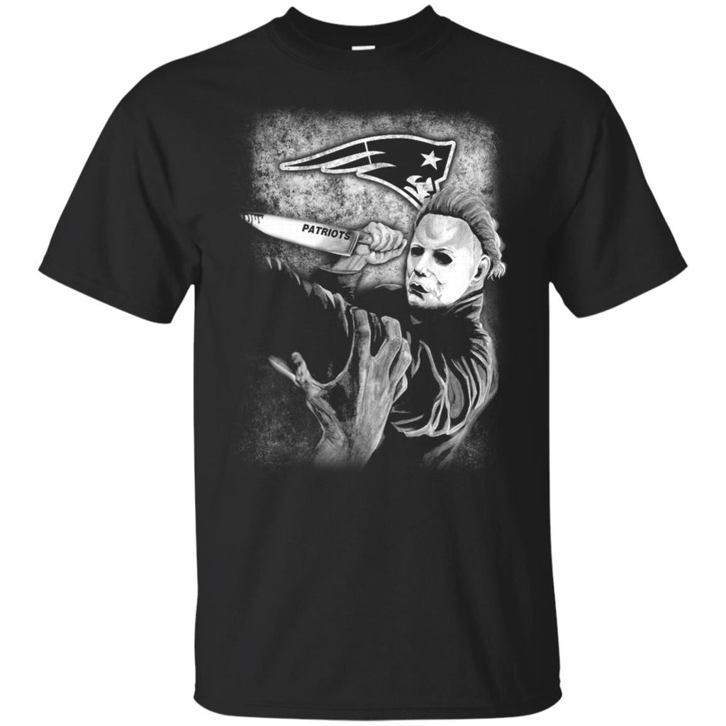 Michael Jason Myers Friday The 13th New England Patriots Halloween T Shirts - Best Funny Store