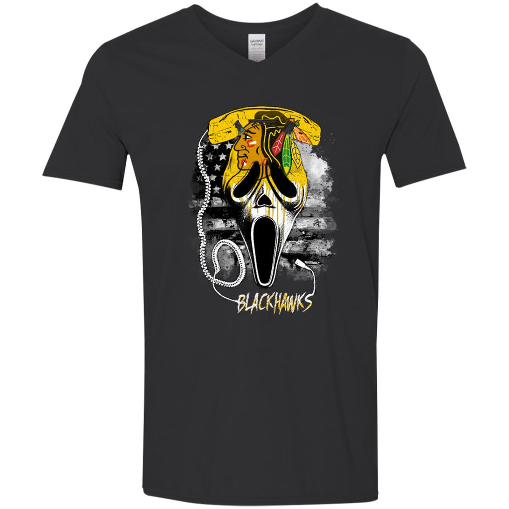 Scream Chicago Blackhawks T Shirts