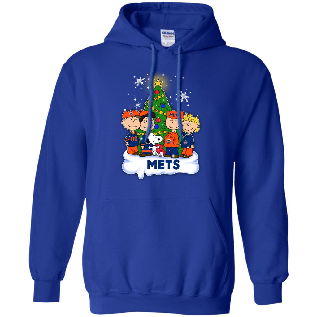 Snoopy The Peanuts New York Mets Christmas T Shirts