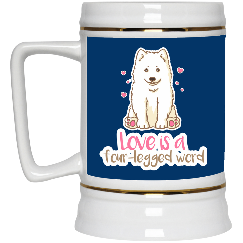 Samoyed - Love Is A Four-legged Word Mugs