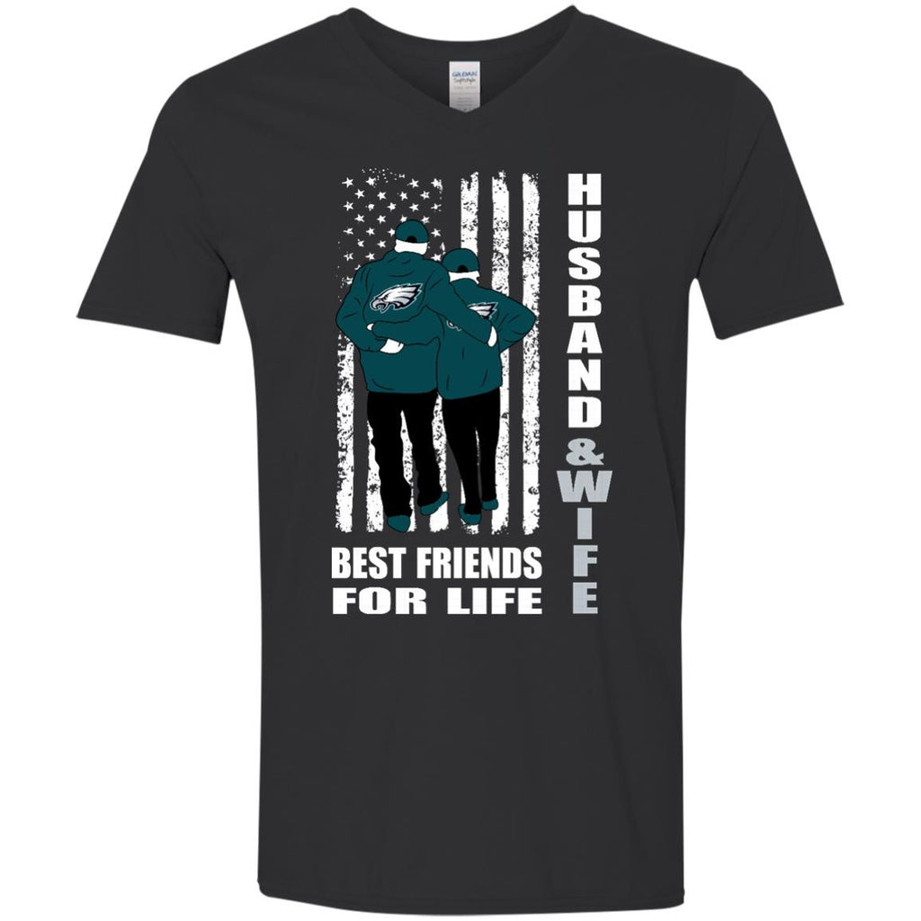 Husband And Wife Best Friends For Life Philadelphia Eagles T Shirt - Best Funny Store
