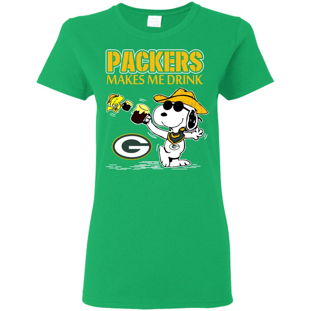 Green Bay Packers Make Me Drinks T Shirts