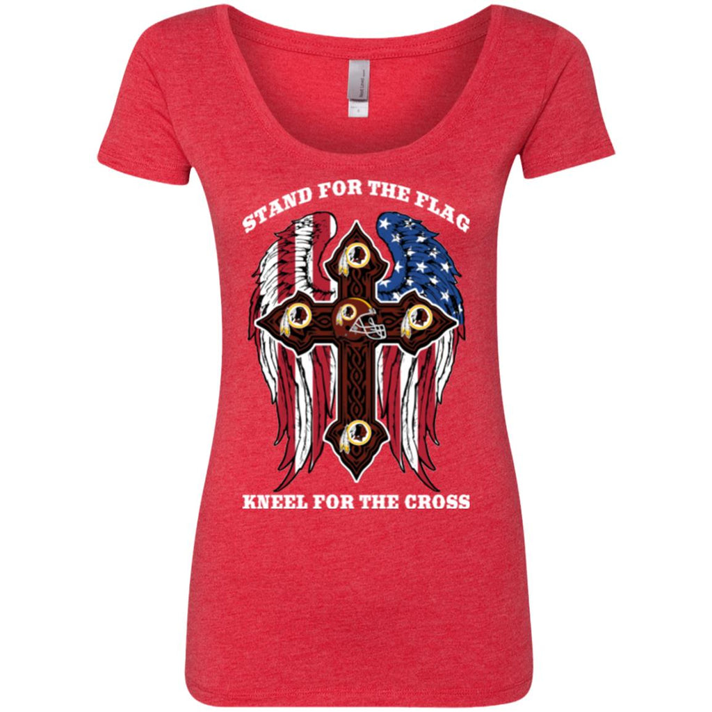 Stand For The Flag Kneel For The Cross Washington Redskins T Shirts