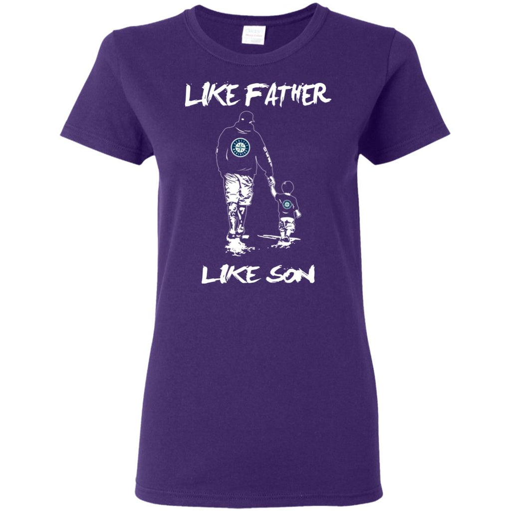 Like Father Like Son Seattle Mariners T Shirt