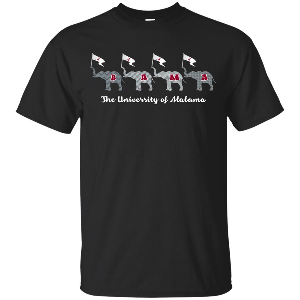 Four Elephant Flags Alabama Crimson Tide T Shirts