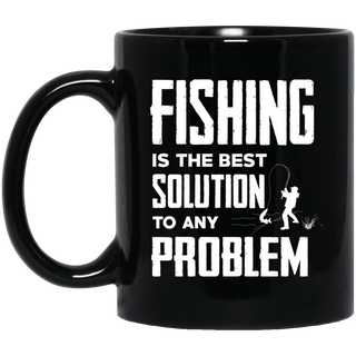 Fishing Is The Best Solution Mugs