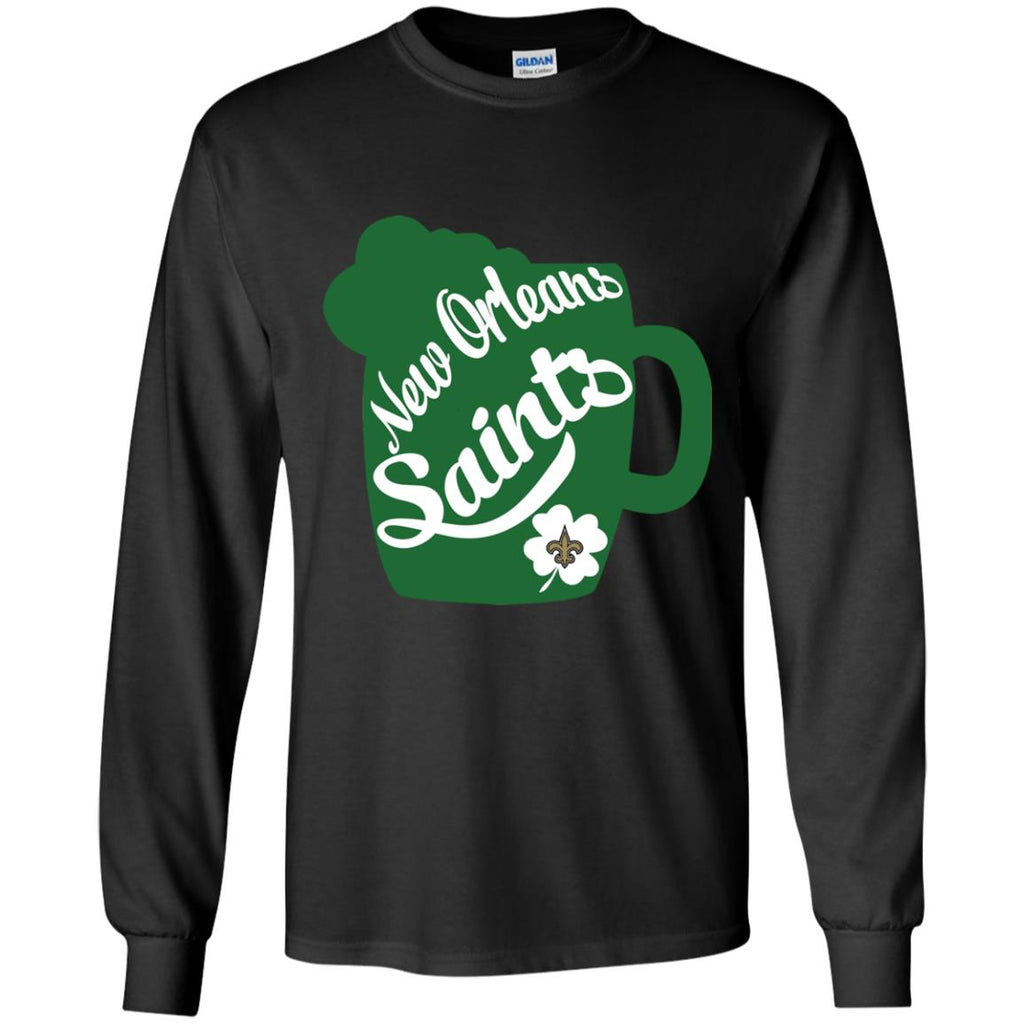 Amazing Beer Patrick's Day New Orleans Saints T Shirts