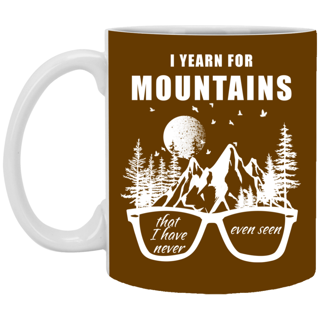 I Yearn For Mountains Hiking Mugs