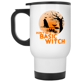 Don't Be A Basic Witch Husky Travel Mugs