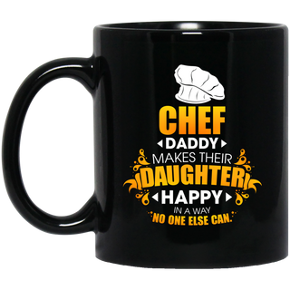 Chef Daddy Makes Their Daughter Happy Mugs