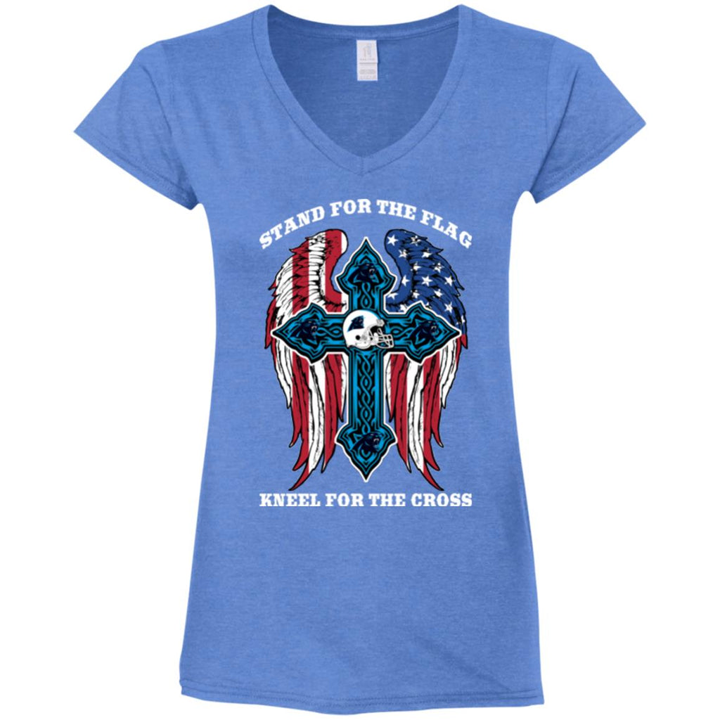 Stand For The Flag Kneel For The Cross Carolina Panthers T Shirts