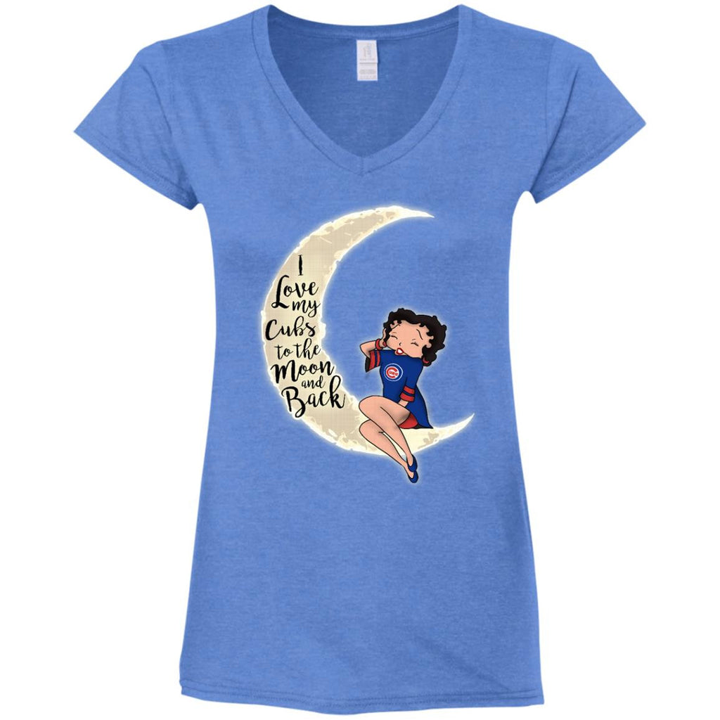 BB I Love My Chicago Cubs To The Moon And Back T Shirt - Best Funny Store