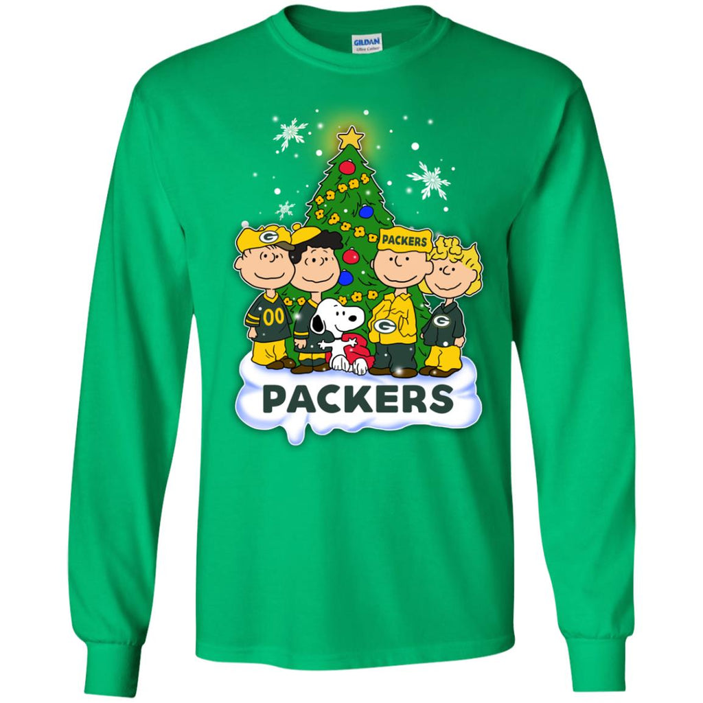 Snoopy The Peanuts Green Bay Packers Christmas Sweaters
