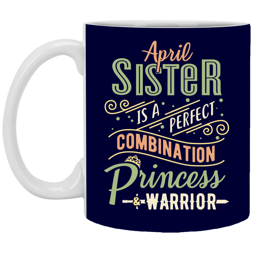 April Sister Combination Princess And Warrior Mugs