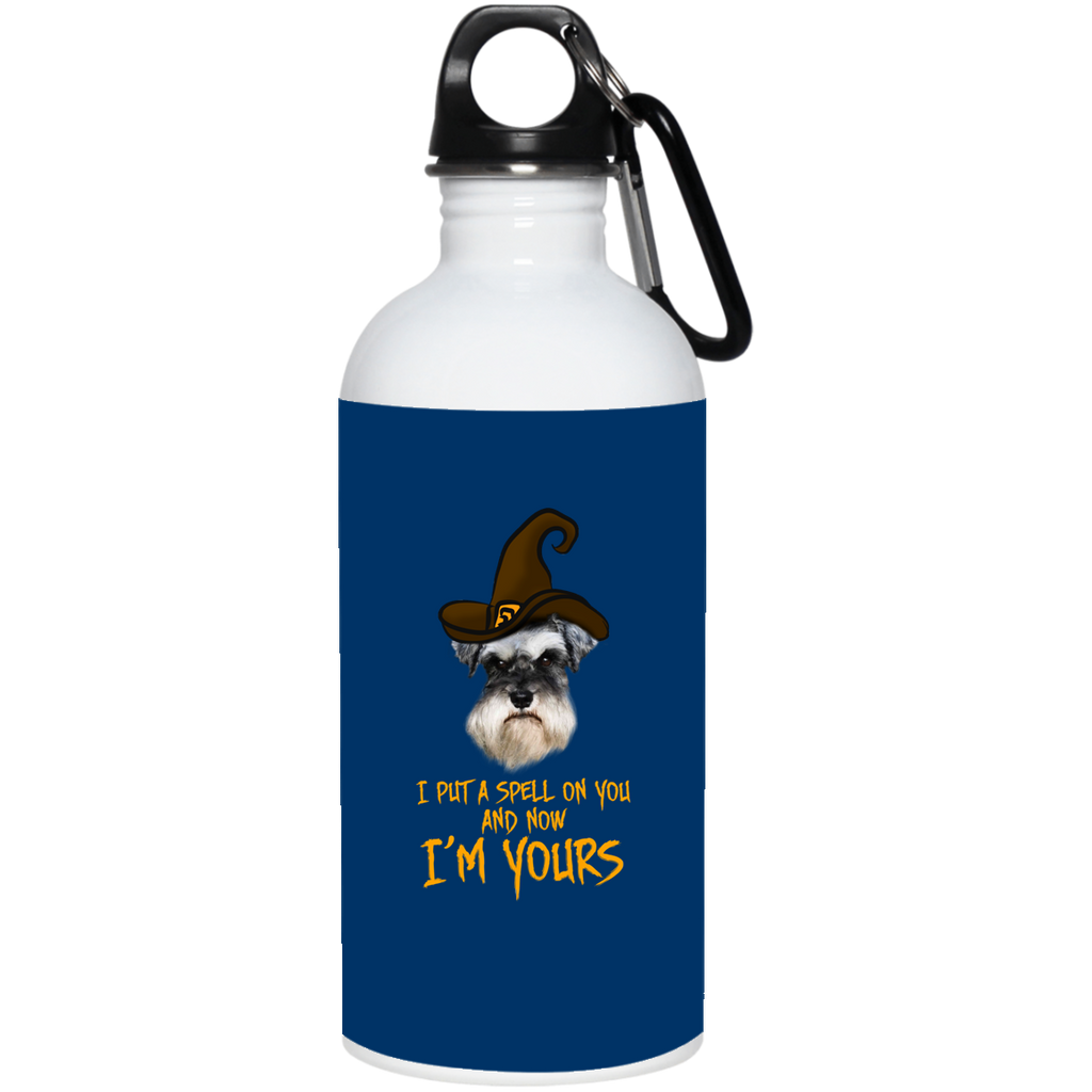 I Put A Spell On You Schnauzer Water Bottles