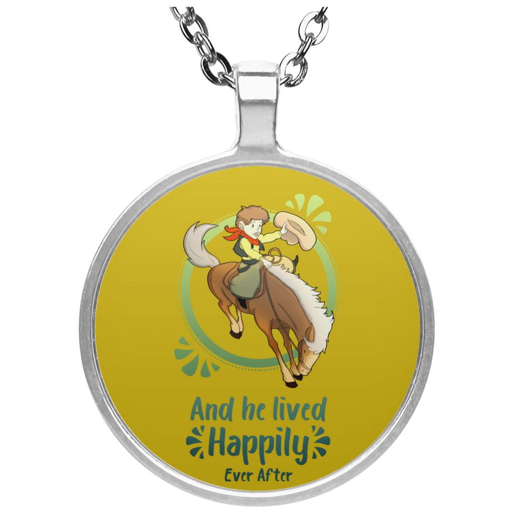 Cowboy Children - Horse And He Lived Happily Ever After Necklaces