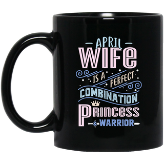 April Wife Combination Princess And Warrior Mugs
