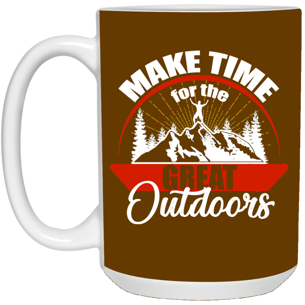 Make Time For The Great Outdoors Hiking Mugs