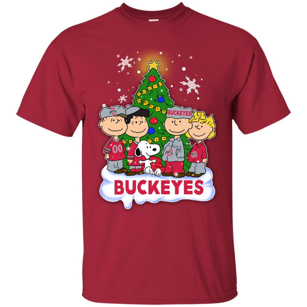 Snoopy The Peanuts Ohio State Buckeyes Christmas T Shirts – Best ...