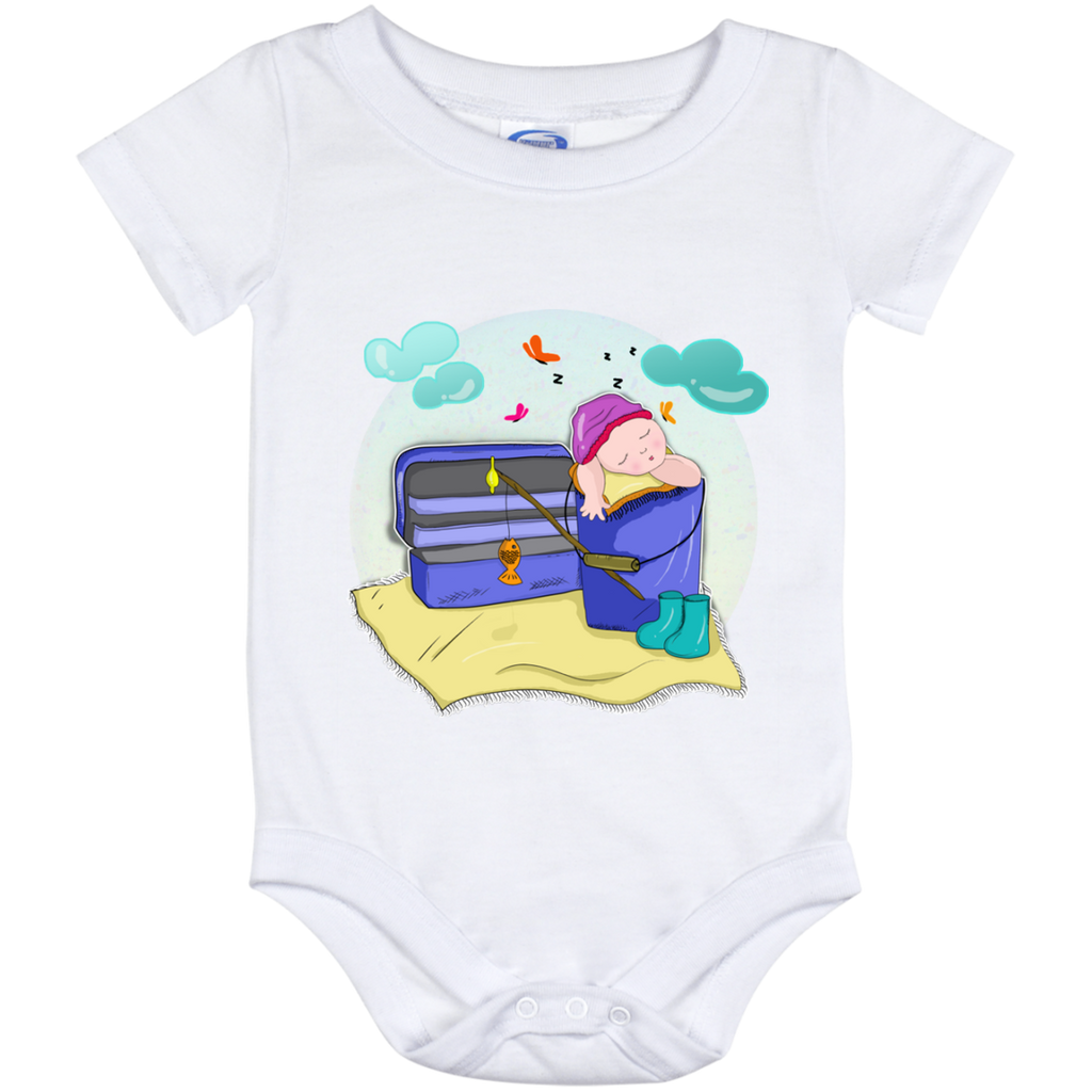 Newborn Baby Fishing Baby Onesies