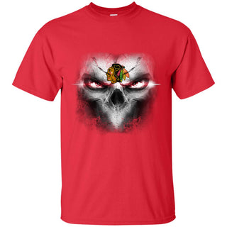 Chicago Blackhawks Skulls Of Fantasy Logo T Shirts