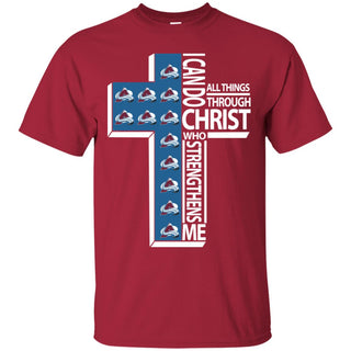 I Can Do All Things Through Christ Colorado Avalanche T Shirts