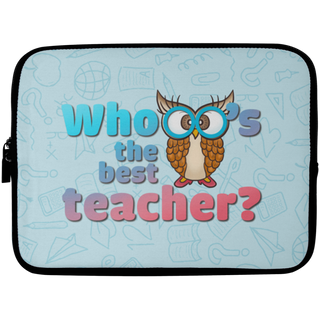 Whooo's The Best Teacher Owl Laptop Sleeves