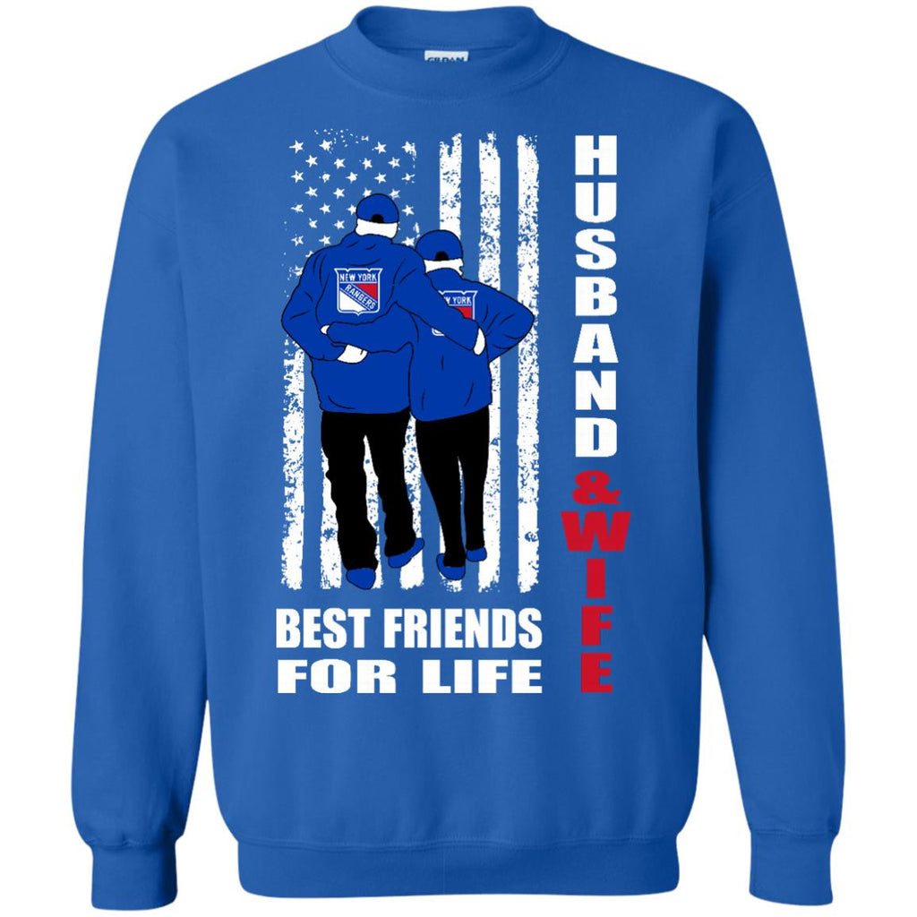 Husband And Wife Best Friends For Life New York Rangers T Shirt - Best Funny Store