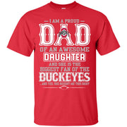 Proud Of Dad Of An Awesome Daughter Ohio State Buckeyes T Shirts